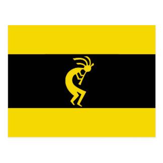 Kokopelli long Yellow Postcard