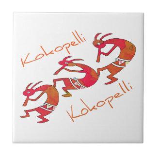 Kokopelli - los regalos del jugador de flauta tejas  cerámicas
