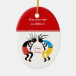 Kokopelli Love Christmas Ornament