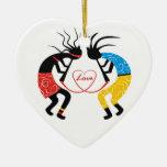 Kokopelli Love Christmas Tree Ornaments