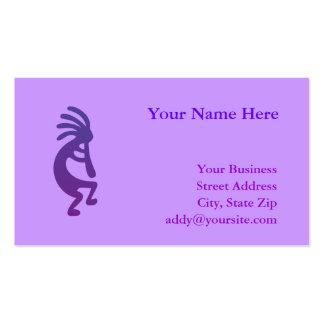 Kokopelli mágico púrpura tarjetas de visita