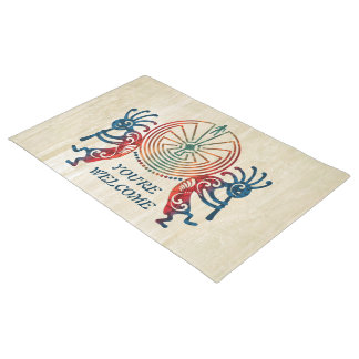 KOKOPELLI / MAN IN THE MAZE colored + your ideas Doormat