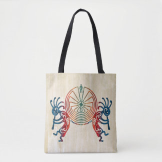 KOKOPELLI / MAN IN THE MAZE colored + your ideas Tote Bag