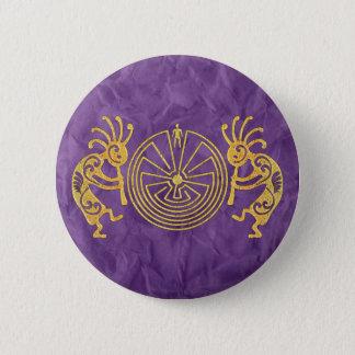 KOKOPELLI / MAN IN THE MAZE gold + your ideas Button