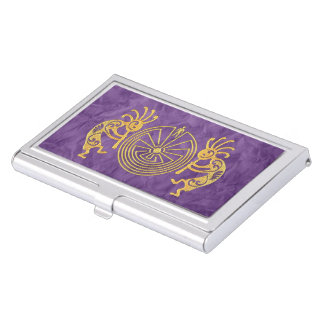KOKOPELLI / MAN IN THE MAZE gold + your ideas Case For Business Cards