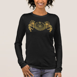 KOKOPELLI / MAN IN THE MAZE gold + your ideas Long Sleeve T-Shirt
