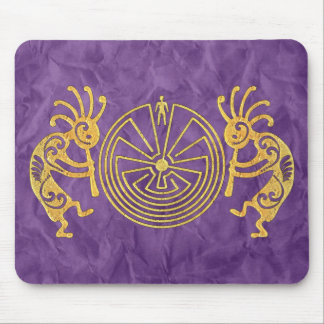 KOKOPELLI / MAN IN THE MAZE gold + your ideas Mouse Pad