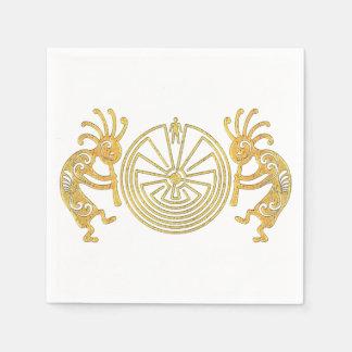 KOKOPELLI / MAN IN THE MAZE gold + your ideas Napkin