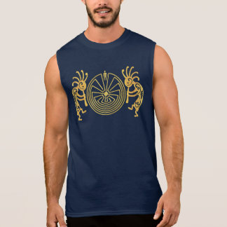 KOKOPELLI / MAN IN THE MAZE gold + your ideas Sleeveless Shirt