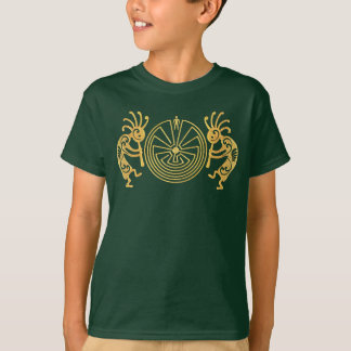 KOKOPELLI / MAN IN THE MAZE gold + your ideas T-Shirt