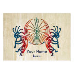 KOKOPELLI / MAN IN THE MAZE + your ideas Large Business Cards (Pack Of 100)