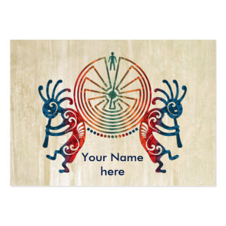 KOKOPELLI / MAN IN THE MAZE + your ideas Large Business Card