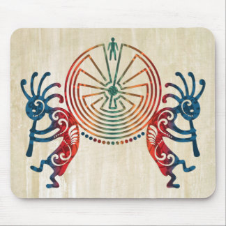 KOKOPELLI / MAN IN THE MAZE + your ideas Mouse Pad