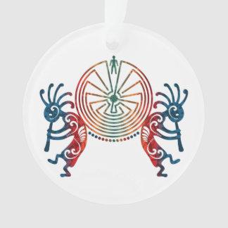 KOKOPELLI / MAN IN THE MAZE + your ideas Ornament