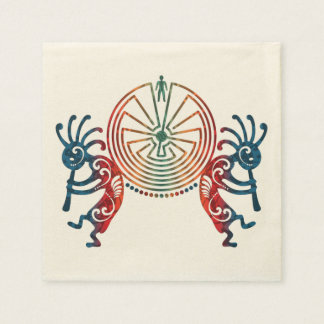 KOKOPELLI / MAN IN THE MAZE + your ideas Paper Napkin