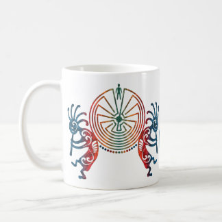 KOKOPELLI / MAN IN THE MAZE + your monogram Coffee Mug