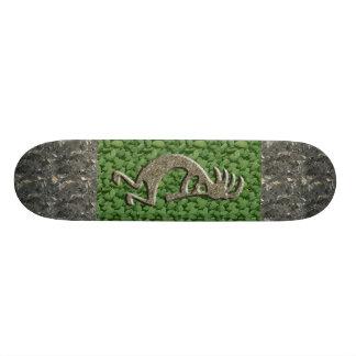 Kokopelli - Marble & Green Rock pattern. Skateboard