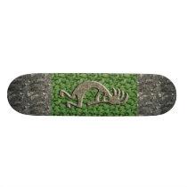 Kokopelli - Marble & Green Rock pattern. Skateboard Deck