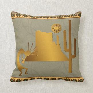 Kokopelli Mesa & Cactus Set #2 Throw Pillow