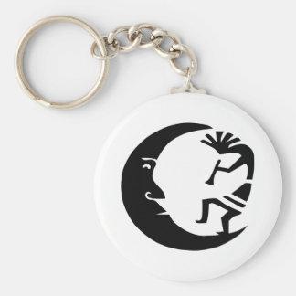 Kokopelli Moon Basic Round Button Keychain