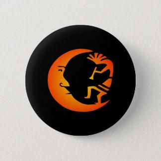 Kokopelli Moon-Black Button