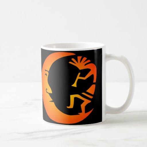 Kokopelli Moon-Black Classic White Coffee Mug