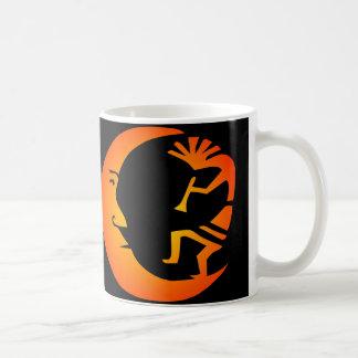 Kokopelli Moon-Black Coffee Mug