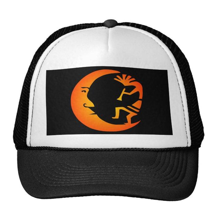 Kokopelli Moon-Black Trucker Hat