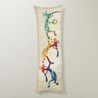 KOKOPELLI musician acrobats + your ideas Body Pillow