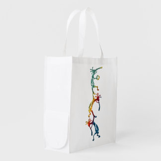 KOKOPELLI musician acrobats + your ideas Grocery Bag