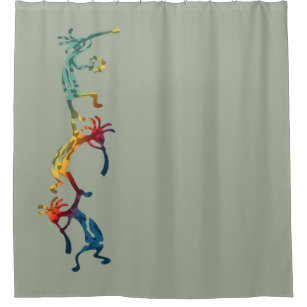 KOKOPELLI Musician Acrobats + Your Ideas Shower Curtain