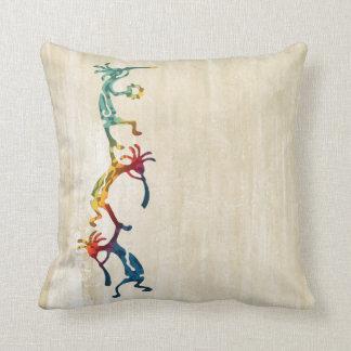 KOKOPELLI musician acrobats + your ideas Throw Pillow