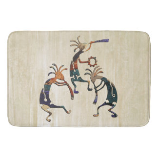 KOKOPELLI musician trio + your ideas Bath Mat