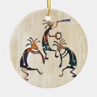 KOKOPELLI musician trio + your ideas Ceramic Ornament