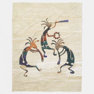 KOKOPELLI musician trio + your ideas Fleece Blanket