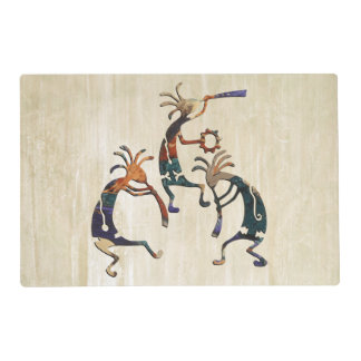KOKOPELLI musician trio + your ideas Laminated Placemat