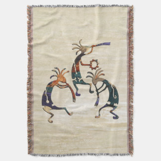 KOKOPELLI musician trio + your ideas Throw Blanket