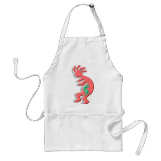 Kokopelli Nataive American Expectant Mother Adult Apron