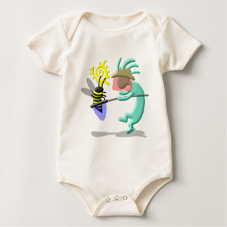 Kokopelli Native American Bee Keeper Baby Bodysuit