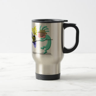 Kokopelli Native American Bee Keeper Travel Mug