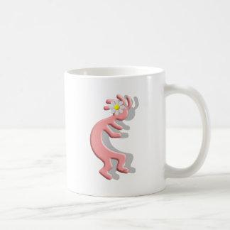 Kokopelli Native American Daisy Flower Girl Classic White Coffee Mug