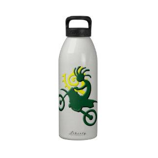 Kokopelli Native American Dirt Bike Drinking Bottles