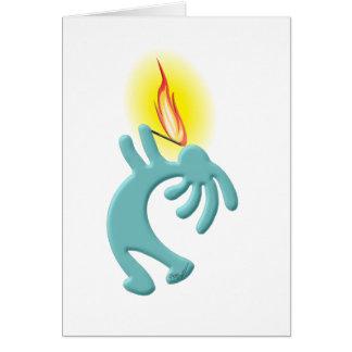 Kokopelli Native American Fire Eater Card