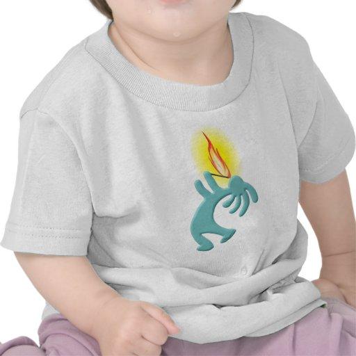 Kokopelli Native American Fire Eater Tee Shirt