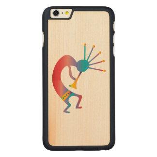 Kokopelli, Native American Flute Player Carved Maple iPhone 6 Plus Slim Case