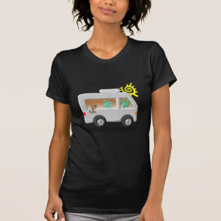 Kokopelli Native American Motor Home T-shirts