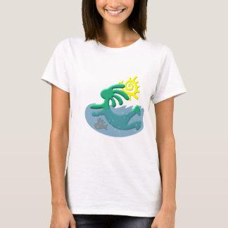 Kokopelli Native American Swimmer T-Shirt