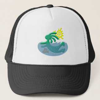 Kokopelli Native American Swimmer Trucker Hat
