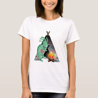 Kokopelli Native American Tipi Camping T-Shirt