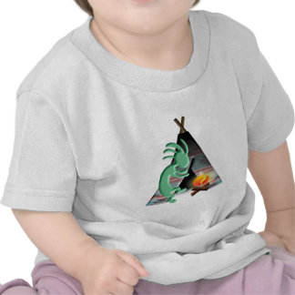 Kokopelli Native American Tipi Camping T-shirts